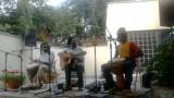 Mamadou Diouf z zespołem